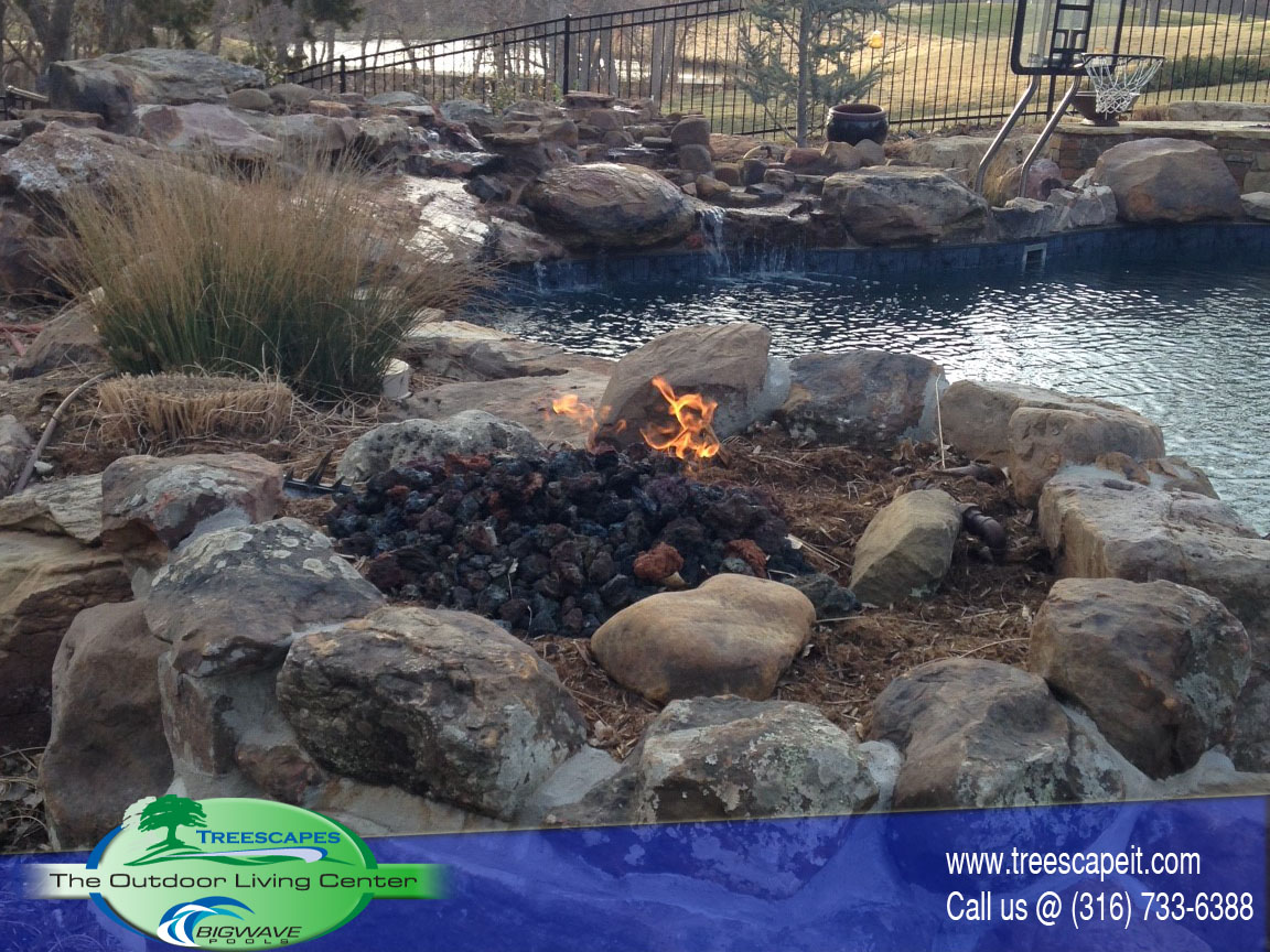 Custom Rock wall Firepit