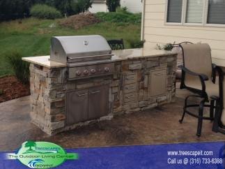 outdoor grill island