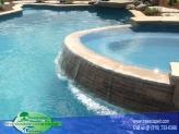 Custom Gunite Pool with Spill over Spa