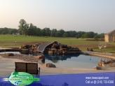 Custom Gunite pool With beach entry
