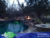 Custom Built Vinyl Pool with Fire Features