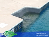 Vinyl Pool with Swim out seat